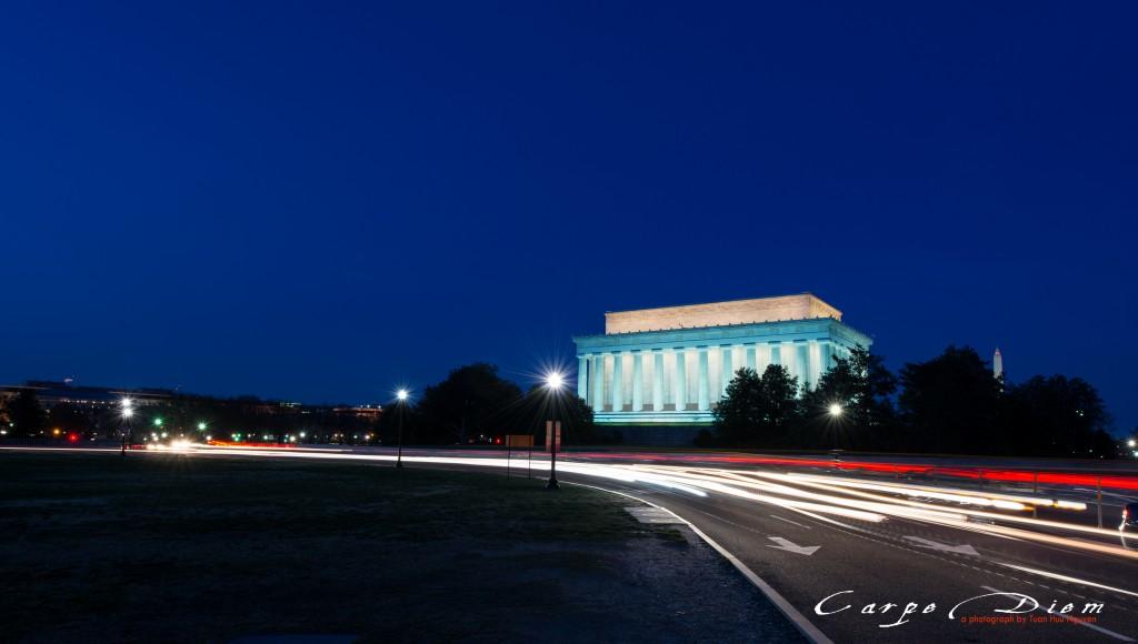1 góc nhỏ của Lincoln Memorial