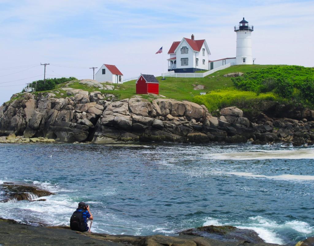 Ở ngọn hải đăng Nubble, Maine
