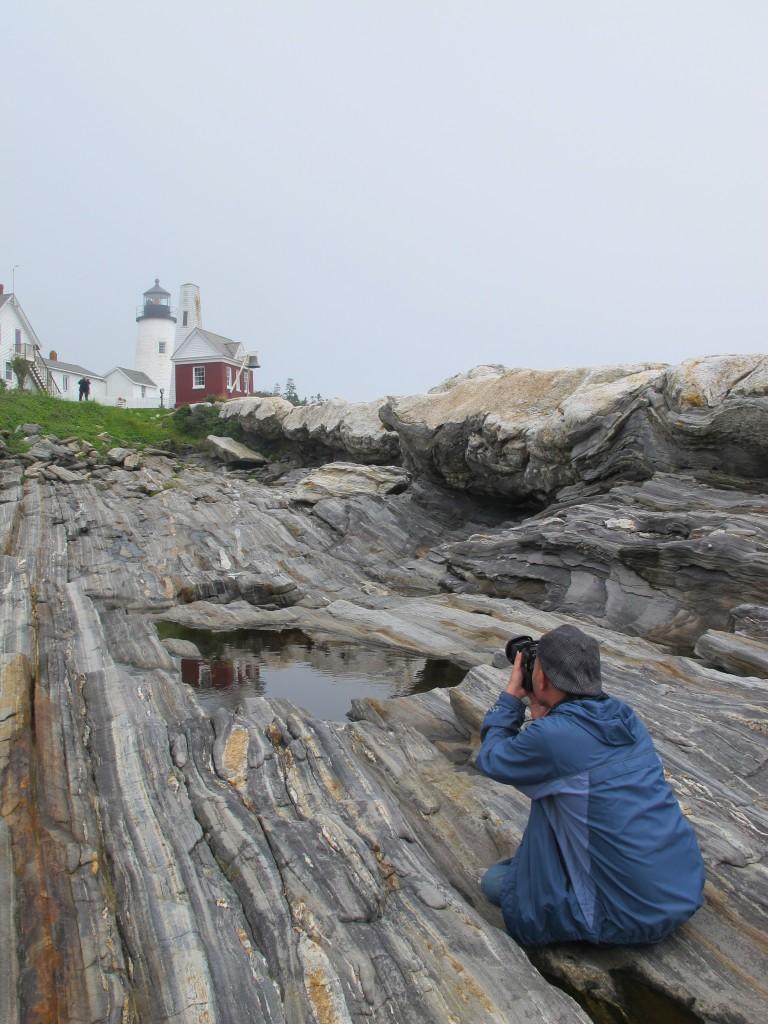 Ở ngọn hải đăng Pemaquid, Maine