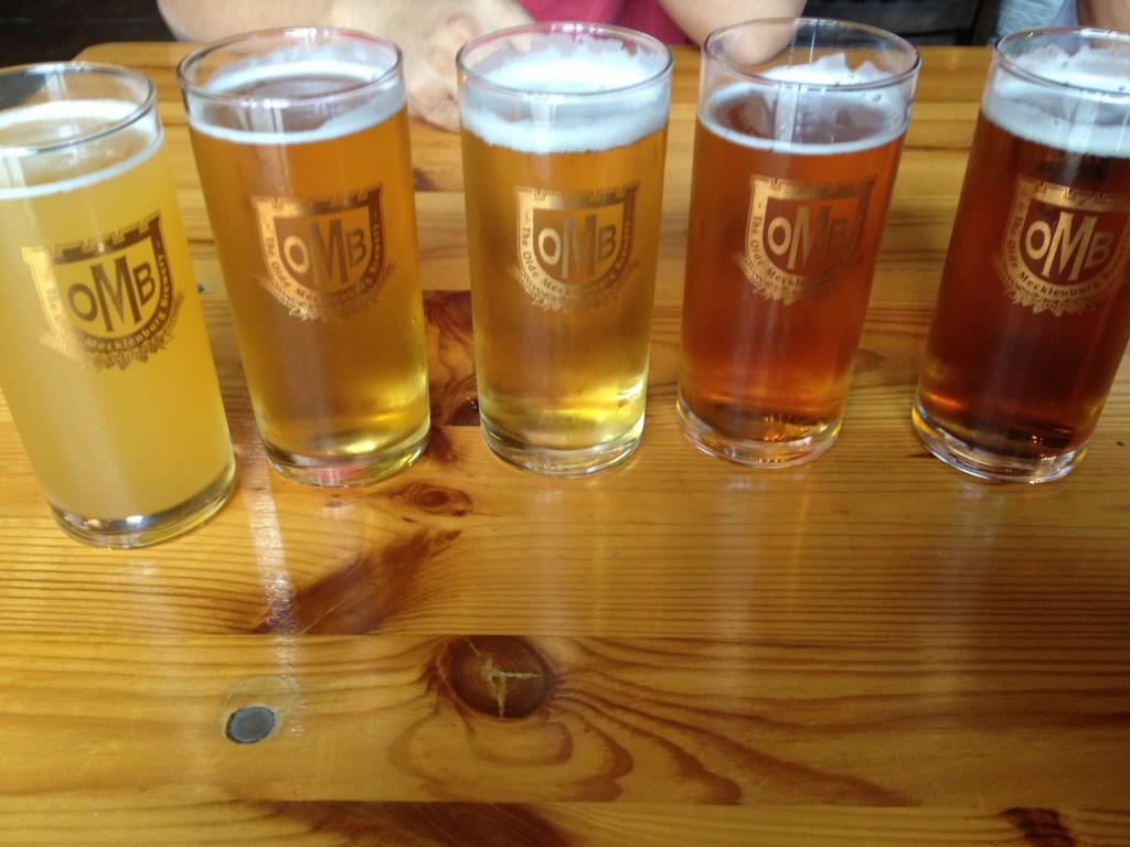 5 loại beer của quán Olde Mecklenburg Brewery