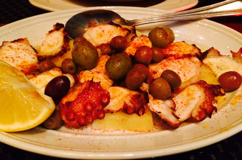 Pulpo - grilled octopus, potatoes, olives