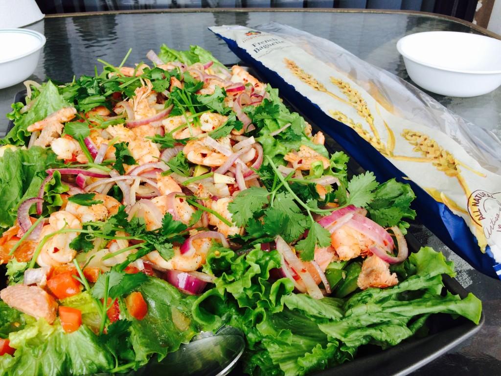 Jumping shrimp salad,  Carolina Beach