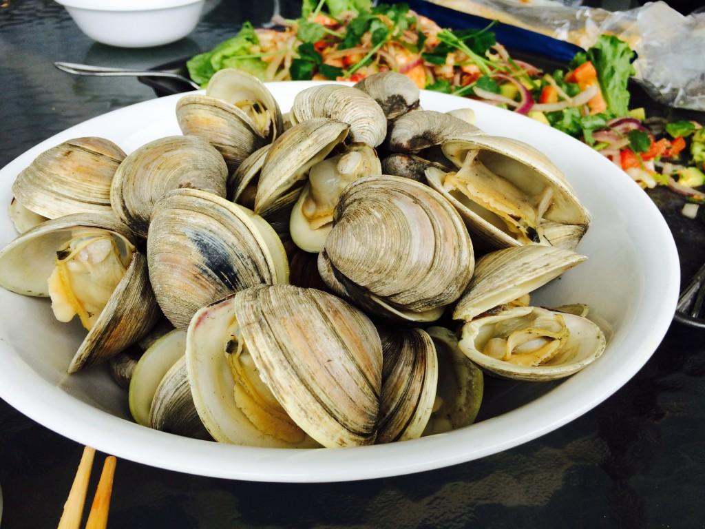 Steam clams, Carolina Beach