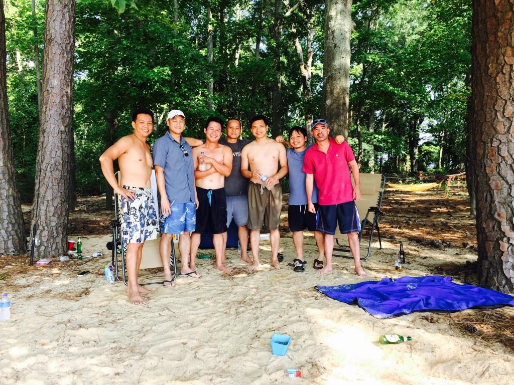 with buddies
