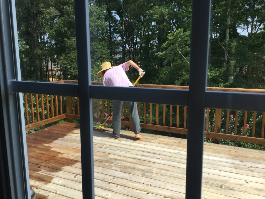 stain and seal the deck