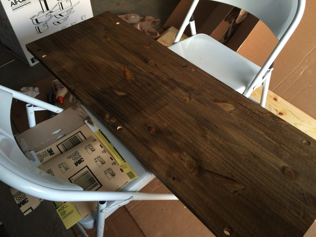 After stain and finish with special walnut color