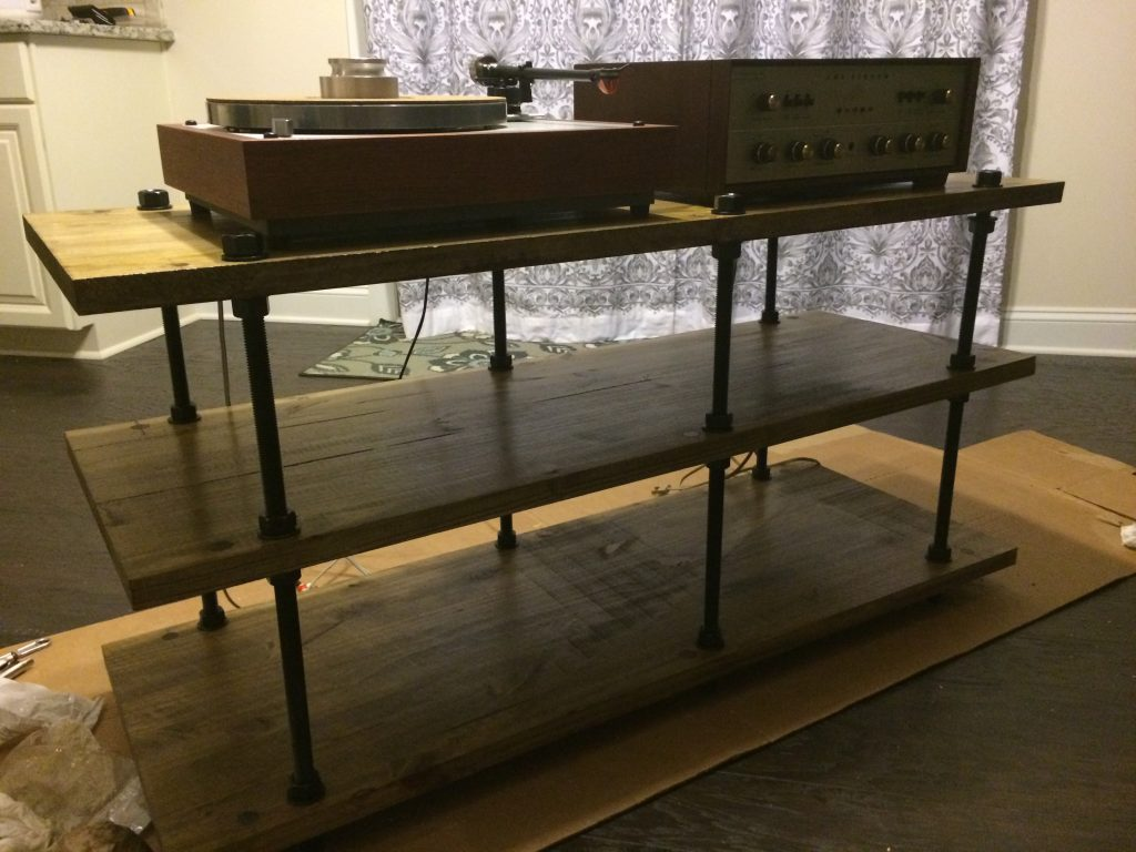 Testing with vintage amp and turntable