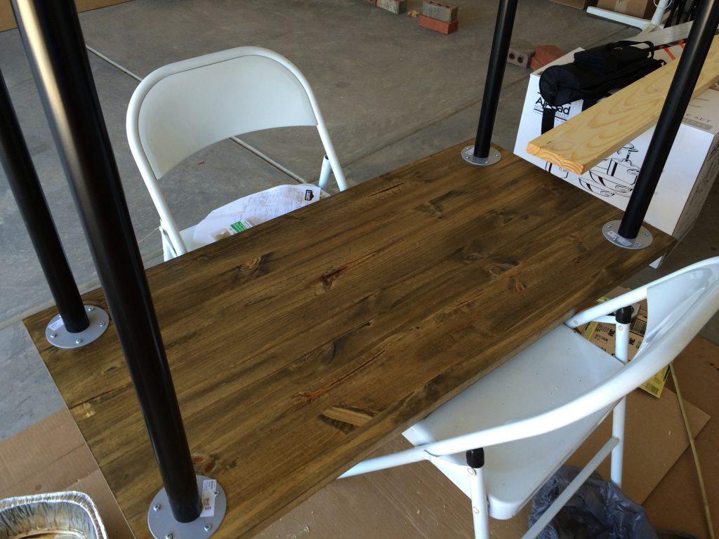 Table using Ikea legs